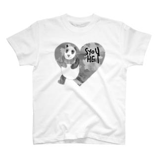 迷彩♡パンダ T-shirts