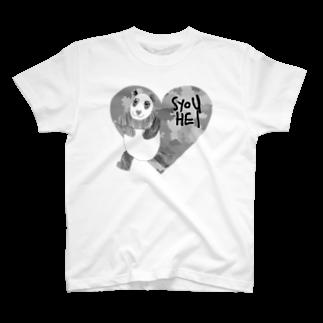 ★いろえんぴつ★の迷彩♡パンダ T-shirts