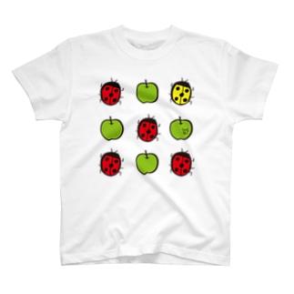 てんとうむし♡あおりんご T-shirts