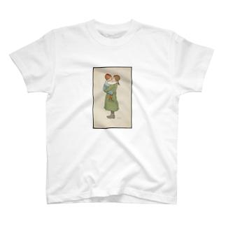 Barnemotiv tegnet av Lisbeth Bergh (1861-1927) T-shirts