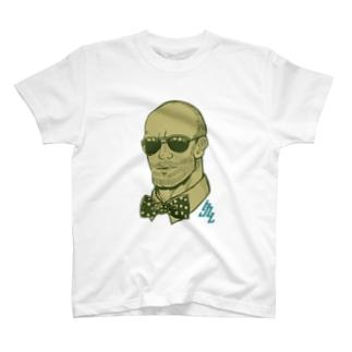 サングラスのおじさん(土色) T-shirts