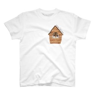 小さめ巣箱リス T-shirts