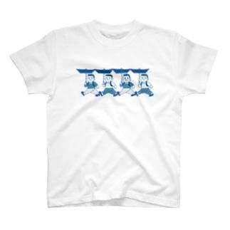 折り畳み傘の少年 T-shirts