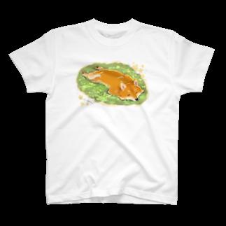 あつみ優の春を浴びる柴犬 T-shirts