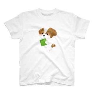 読書わんこ T-shirts