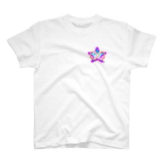 推愛Star【ワンポイント】 T-shirts