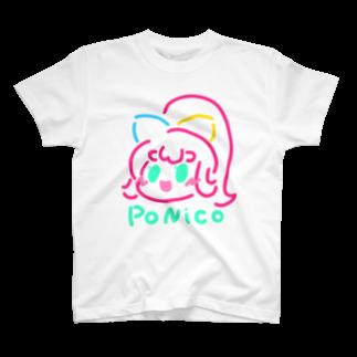 蹄ぽに子のネオンPoNiCo T-shirts