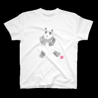 ★いろえんぴつ★のパンダさん Tシャツ
