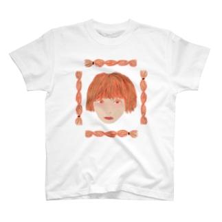 三つ編み断髪ガール T-shirts