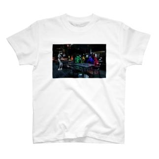 """ライトペイントアート""""midnight cafe"""" T-shirts"""