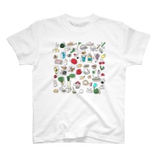 たべものふれんず T-shirts