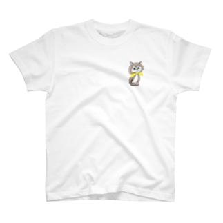 イエローレトロキャット T-shirts