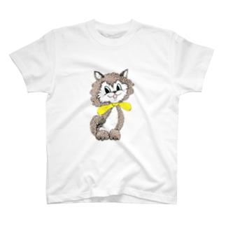 イエローレトロキャット大 T-shirts