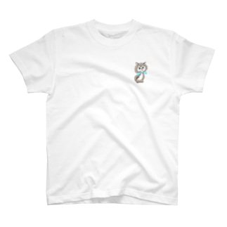 ブルーレトロキャット T-shirts