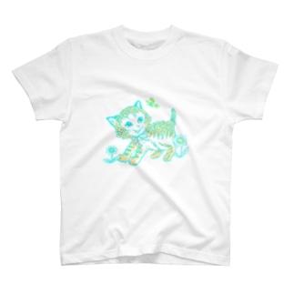 レトロ猫 T-shirts