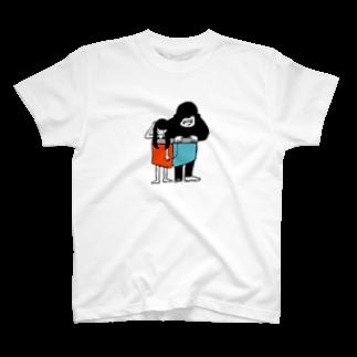 あきらんどの女の子とゴリラとパンツカラー T-shirts