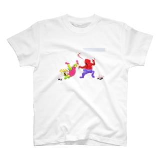 蛙戯画~おすもう~ T-shirts