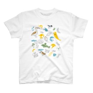 ヒガタの生き物(ロゴ無) T-shirts