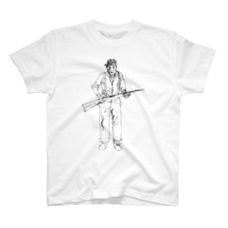 630のじいさんが銃持って殺しに来た T-shirts