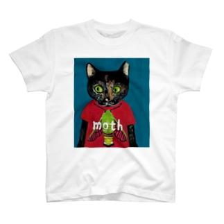 保護猫ビッケとオオスカシバ T-shirts