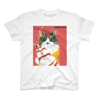 保護猫ジーアとアカスジシロコケガ T-shirts