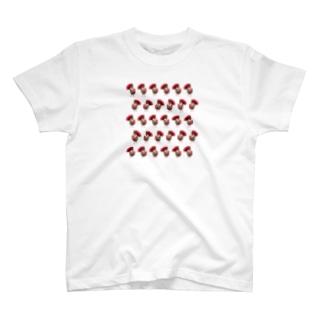 ハリネズミつんさん雨のお出かけ T-shirts