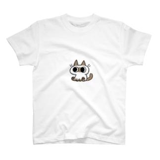 シンプルなシャムちゃん T-shirts