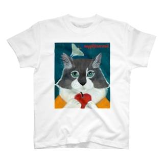 保護猫タケルとオオミズアオ T-shirts