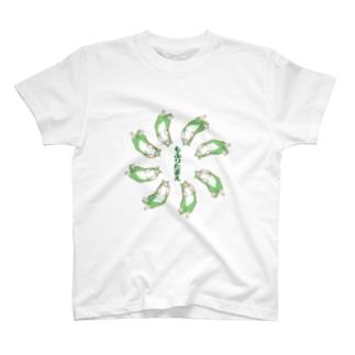 もふりたまえ(前面/緑系) T-shirts