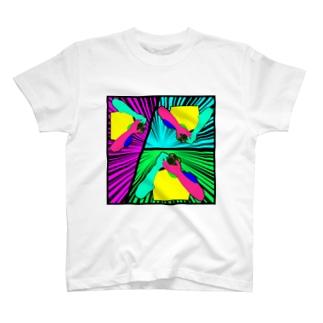 カメラマン(集中線) T-shirts