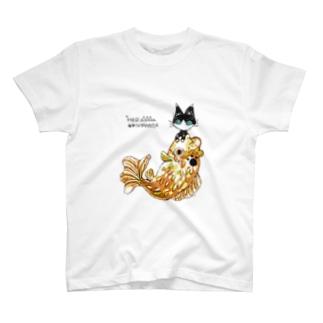 マーニャンコ(ハチワレ) T-shirts