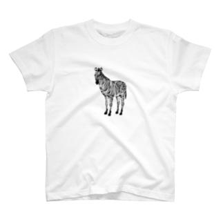 ハンコの縞馬 T-shirts