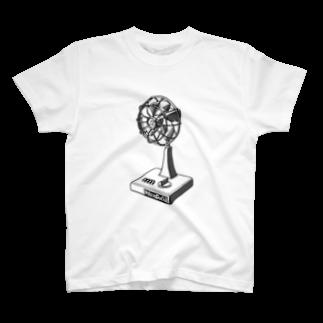 neoacoのElectric Fan 2019 ~スイタピーデンキ モノクロバージョン~ T-shirts