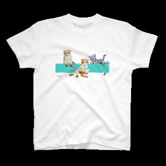 もけけ工房 SUZURI店のIKAPON CATS T-shirts