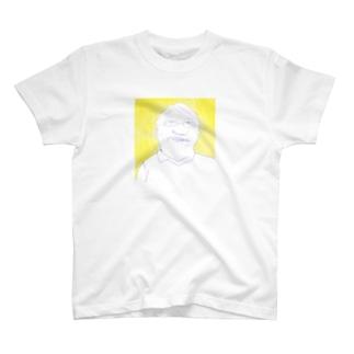 おじさんと黄色 T-shirts