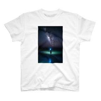 ライトペイントアート (stargazer) T-shirts
