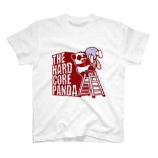 ハードコアパンダ(脚立) T-shirts