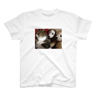 猫とクマ達 T-shirts