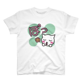 擬声語キャット-ぽっ- T-shirts