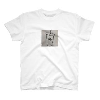 ハンバーガーショップのシェイクロゴ T-shirts