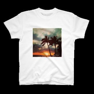 小村 響子のRed sunset  T-shirts
