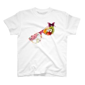 からふるスイート眼鏡 Colorful sweet glasses T-shirts