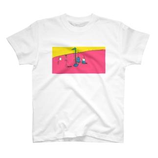 むだげちゃん身体測定 T-shirts