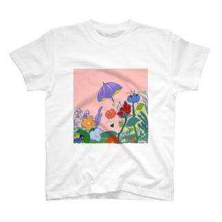 アンブレラとリップ星人のリップちゃん T-shirts