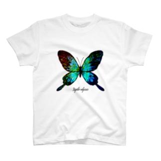 蝶とステンドグラス T-shirts