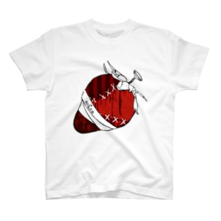 ツギハギイチゴ T-shirts