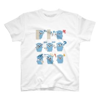 スタンプ T-shirts