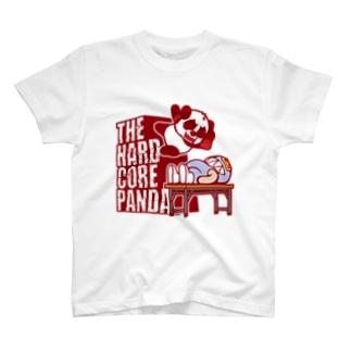 ハードコアパンダ(長机) T-shirts
