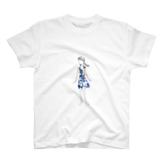 夏の色で出かけたい T-shirts