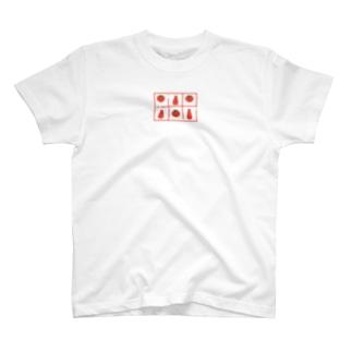 トマトとケチャップの柄 T-shirts